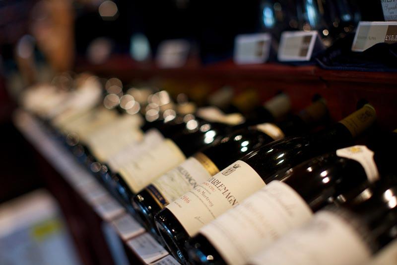 Fine Burgundies on display